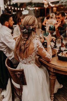 V Neck Wedding Dress, Top Wedding Dresses, Bridal Dresses, Fall Wedding Gowns, Backless Wedding, Wedding Dresses With Flowers, Wedding Dress Colors, Tan Wedding Suits, Long Sleeved Wedding Dresses