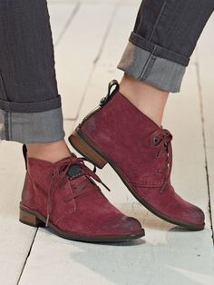 Shop Women's Bussola Desert Chukka Booties. Distressed suede lace-ups look edgy & Euro. Exceptionally crafted with premium leather & durable Goodyear welting.