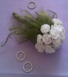Bridesmaid Posies from £15 each...available in Fresh or Silk Flowers..all colours...(foam roses pictured)