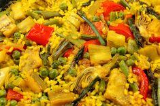 Almuerzos fáciles: Paella de verduras