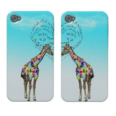 Matching giraffe love iphone covers. Just sold two of these matching iphone covers. Great for romantics!