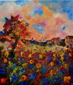 late summer, painting by artist ledent pol