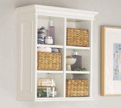 Newport Wall Cabinet | Pottery Barn  bathroom storage above toilet