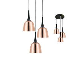 Telbix Polk 3 Light Ceiling Pendant Copper/Black *CUSTOM*, $499.00