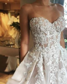 Ball Gown Sweetheart Open Back Ivory Tulle Wedding Dresses with Appliques,Charming Bridal Gown from Dressmeet Maxi Dress Wedding, Wedding Dresses With Straps, Tulle Wedding, Dream Wedding Dresses, Boho Wedding, Bridal Dresses, Wedding Gowns, Prettiest Wedding Dress, Bridal Veils