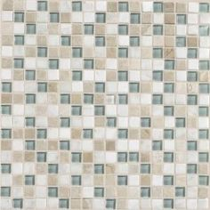Daltile Stone Radiance Whisper Green 12 in. x 12 in. Glass and Stone Mosaic Blend Wall Tile-SA515858MS1P at The Home Depot
