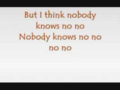 Pink - Nobody Knows (with lyrics) You lifted me up and I hope I lifted you. I miss You all