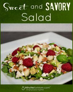Sweet and savory raspberry bacon salad