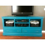 repurpose dresser into tv stand