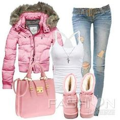 PINK winter outfit....LOVE! #cyber_monday #uggs #cyber_Monday_list