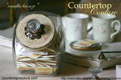 http://www.etsy.com/listing/82796870/vanilla-bronze-vintage-style-cookie-jar $48.00