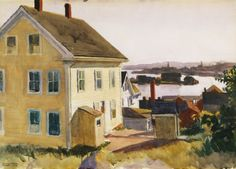 Edward hopper, house and harbor, 1924 art эдвард хоппер, худ American Realism, American Artists, Manet, Edward Hopper Paintings, Ashcan School, Toulouse, Digital Museum, Les Oeuvres, Landscape Paintings