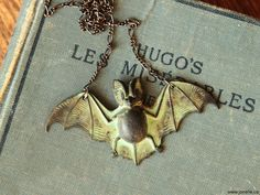 Bat necklace Steampunk Gothic Victorian jewelry by RemoteLuxury