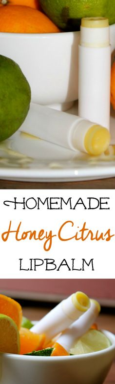 DIY Honey Citrus Lipbalm :: This DIY lipbalm recipe is a fun gift idea!