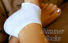"""Well, duh!  Summer heel socks for putting on lotion at night,  What a great idea for those """"found"""" single socks. =)"""