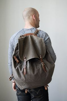 vintage swedish military backpack // vintage backpack by ThePriory, $88.00