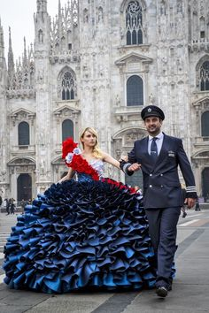 Suki Waterhouse Photos Photos - In this handout image supplied by British Airways, the airline British Airways celebrated its love of Milan by taking British supermodels Suki Waterhouse and David Gandy out onto the citys fashionable streets for two very special photoshoots - followed by an exclusive fashion show and very British afternoon tea experience on February 23, 2017 in Milan, Italy. - British Airways Brings Fashion Royalty Suki Waterhouse And David Gandy To Milan, Italy