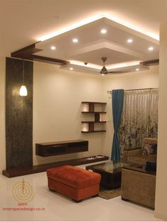 False Ceilings Design With Cove Lighting For Living Room 48