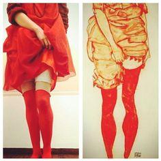 "Gefällt 46 Mal, 7 Kommentare - Christina Gohli (@cgohli) auf Instagram: ""#egonschiele ""womanimredstanding"" #womanimred #womaninredstanding #albertina #AlbertinaSchiele…"" Albertina, Knit Crochet, Capri Pants, Knitting, My Style, Instagram Posts, Art, Fashion, Capri Trousers"
