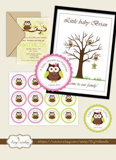 Fiesta nacimiento imprimible Incluye árbol huellas por ByYolanda