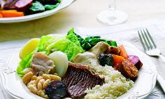 Cozido à portuguesa, um prato tradicional, muito apreciado em Portugal.