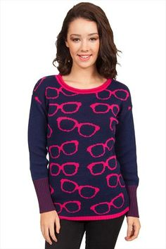 Koi Scrubs Fashion Glasses Print Top Eye Garbbing