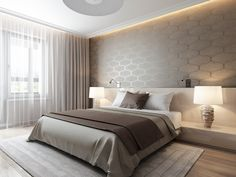 Bedroom wallpaper colour wallpapers 69 new ideas Interior, Bedroom Interior, Modern Wallpaper Bedroom, Modern Interior Design, Modern Bedroom, Bedroom Bed Design, Home Interior Design, Interior Design, Bedroom Wallpaper Colours