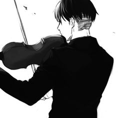 Levi(Rivaille) playing the Violin.. I can see it