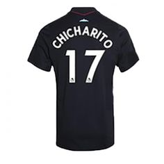 ca2ae501e02 17-18 West Ham United Away Black CHICHARITO #17 Soccer Jersey Shirt1