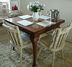 Vintage Antique French Solid Oak Dining Table Rustic Reclaimed Shabby Chic Available now at www.anouskachic.co.uk