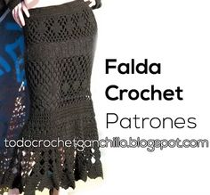 Falda Crochet diseño Sirena / Patrones