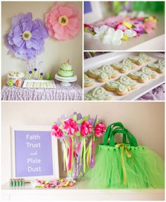 Tinkerbell + Fairy themed birthday party via Kara's Party Ideas…