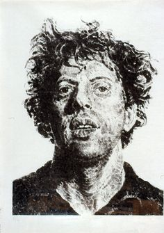 Large Phil Fingerprint, 1979 By Chuck Close: Category: Art Currency: GBP Price: Retail Price: Rare Conceptual Art Black and… Chuck Close Art, Philip Glass, Whitney Museum, Black And White Man, Exhibition Poster, Museum Exhibition, American Art, Fine Art Prints, Poster Prints