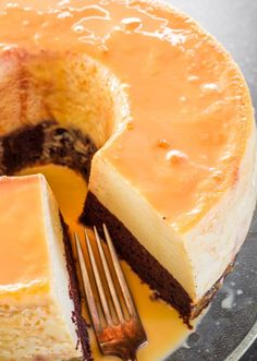 Magic Flan Cake - a delicious cake with chocolate and flan layers.