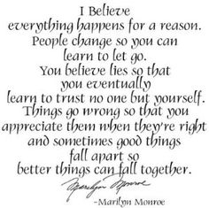 """Amazon.com: Marilyn Monroe Quote """"I Believe"""" - Vinyl Wall Words Lettering Decal Sticker: Home & Kitchen"""