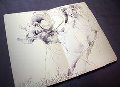 Big horn sheep. #drawing #sketch #ballpointpen #moleskine #sheep #animals