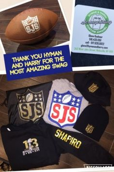 Bar Mitzvah Favors | Football Theme   These custom Bar Mitzvah favors were imprinted with the logo.