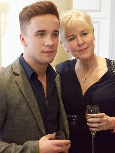 Sam Callahan is joined by his mum - The handsome X Factor star was accompanied by his lovely mother Tracey and couldn't wait to hear all about the winning mums. He later tweeted that he had a great time and met some amazing people at the event.