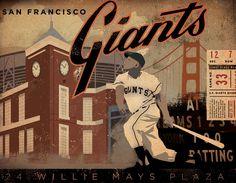 San Francisco Giants baseball club original by geministudio