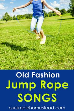 """Jump Rope Songs and Rhymes One of my first memories of singing jump rope songs were in elementary school jumping rope to """"Down in the valley where the green grass grows there sat Tracy sweet as a rose…"""" - Education and lifestyle Jump Rope Songs, Jump Rope Games, Family Fun Games, Kid Games, Couple Games, Rhymes For Kids, Kids Fun, Singing Tips, Kids Songs"""
