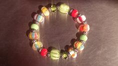 Fruity Murano glass lampworked bracelet. by DestinyPier on Etsy
