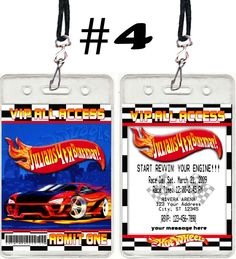 Hotwheels Birthday Party VIP invitations Favors - ALL PARTY INVITES