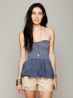 Free People Eyelet Peplum, 59.95