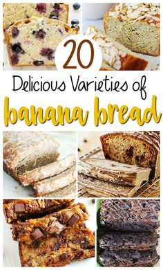 This collection of 20 different varieties of banana bread will leave your mouth watering as you head to the kitchen to whip up one of these loaves!