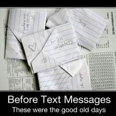 Remember these!? I wrote tons of these and folded them just like this too lol good ol days...