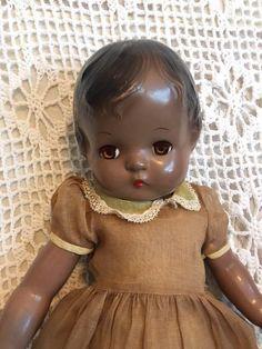 Rare 1946 Black Effanbee Patsy Joan Doll Toys, Baby Dolls, Effanbee Dolls, African American Dolls, Creepy Dolls, Old Dolls, Child Doll, Dollhouse Dolls, Black Queen