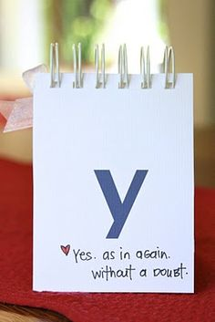 sweet DIY alphabet book for future husband