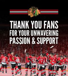 Thank you, Blackhawks fans, for a season to remember!