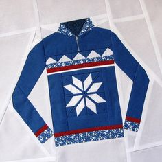 November Ski Sweater Block by quirky granola girl, via Flickr****WOW, my brother would love this!