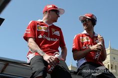 """Vettel:""""You missed the champagne on the podium in Baku!"""" Kimi:""""I had vodka in my drink bottle during the race!"""""""